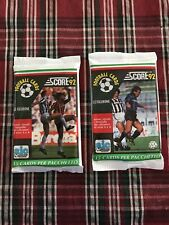 Vintage Italian Soccer-Score Football 1992-93 (2) Sealed Packs