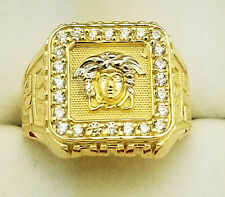 ffe09d437 10K Yellow Gold Men's Versace Ring Medusa Face Ring