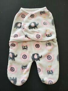 Blankets and Beyond infant swaddle bag blanket pink with owls Plush