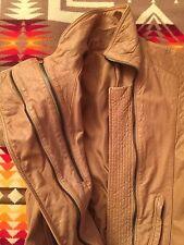 Leather Vest Dress  Women  Sz S  beige / nude color NEW