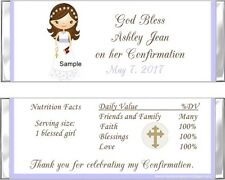 20 ADORABLE GIRL CONFIRMATION Personalized CANDY WRAPPERS FAVORS