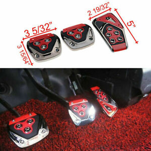 3 PCS Car Manual Transmission Nonslip Brake Clutch Pedal Cover Set Foot Treadle