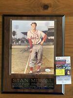 Stan Musial Signed Autographed 8x10 Photo/plaque LE 417/500 JSA COA Free ship