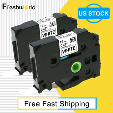 2 Pk Compatible Brother P Touch Label Maker Tape 12mm Tz 231 Tze 231 For Pt H100
