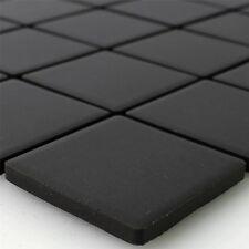 Keramik Mosaik Fliesen Schwarz Uni Rutschhemmend Unglasiert
