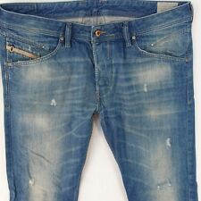 Mens Diesel BELTHER 0823U Regular Slim-Tapered Blue Jeans W36 L34