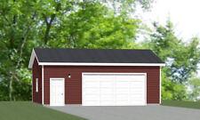 30x24 2-Car Garage -- 720 sq ft -- PDF Garage Plan -- 10ft Walls -- 10G Model