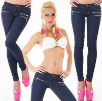 Pantaloni donna cotone jeggings skinny slim aderenti elasticizzati sexy nuovi