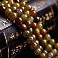 "Natural 4/6/8/10/12mm Agate Gemstone Tea Round Beads Dragon Spacer 15"" Loose"