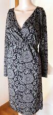 Old Navy Women's Maternity Dress Size S Cotton/Modal Blend - Floral Gray & Black