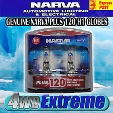 NARVA H1 +120%  HALOGEN LIGHT BULBS HEADLIGHT GLOBES 48360BL2 NEW 12V PLUS 120