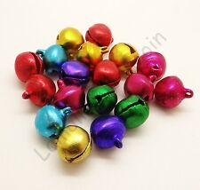 20 grelots clochettes en métal brillant couleur mélangée, perles,fimof-bc199