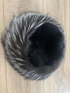 MAX MARA - FOX FUR Hat Size 57-  NEW!