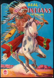 """UNCOLORED """"Real Indians To Color"""" #1515 Merrill 1950 (5587)"""