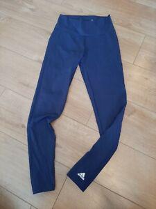 ADIDAS Women's Navy Compression Fitness Soft Running Gym Legging Size M