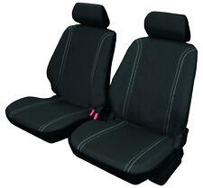 Juego de fundas para asientos de coche universales color negro, delanteras