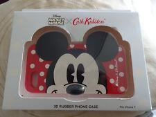 Iphone 7 Disney Mickey Mouse 3D goma teléfono caso por Cath Kidston NUEVO y en caja fue £ 25