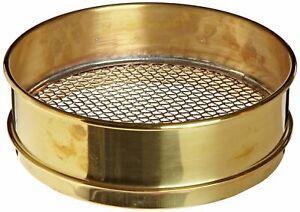 """Advantech Brass Test Sieve, #4 Stainless Steel Mesh, 8"""" Diameter, Full Height"""