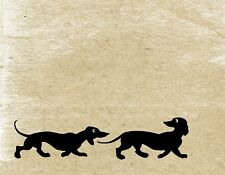 Metal Magnet Dogs Dachshund Silhouettes Dog Grunge Background Magnet