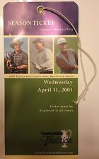 2001 Countryside Tradition Ticket - Used Tom Watson Tom Kite Nelson