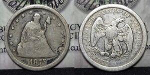 1875 S Twenty Cent Piece 20c Nice Details Cleaned