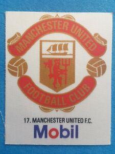 Mobil Football Club Badges Silk 1983 Manchester United