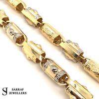 """LION HEAD BELCHER GREEK PATTERN 585 14ct YELLOW GOLD BRITISH Chain 25"""" 10mm NEW"""