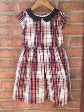 The Childrens Place Black White Red Plaid Christmas Dress Size 5