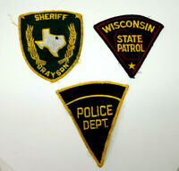 Lot Of 3 Vintage Sheriff Police State Patrol Patches