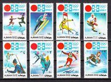 Ajman, Mi cat. 1107-1114 A. Sapporo Winter Olympics issue.