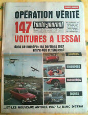 L'AUTO-JOURNAL n°415 du 11/1966; Spécial 147 Essais
