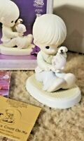 "1995 Precious Moments ""You Can Always Count On Me "" Porcelain Figurine 526827"