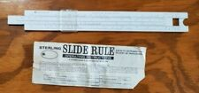 Sterling Slide Rule Precision White - Vintage - With Instructions - Made in Usa