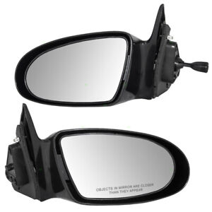 Pair Set Manual Remote Side View Mirrors Glass Housing for 1993-1997 Geo Prizm