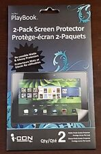 I.CON PLAYBOOK 2-PACK SCREEN PROTECTOR. NEW REUSABLE MATTE & GLOSSY
