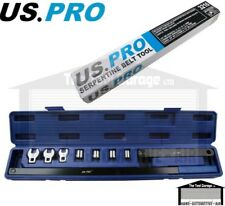 US PRO Tools Serpentine Belt Tool Wrench Kit Set In Case NEW 3216