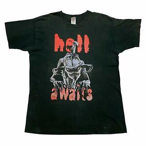 Todd McFarlane's Spawn Hell Awaits Tshirt   Vintage 90s Superhero Cartoon TV VTG