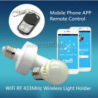 Sonoff WiFi 433MHz E27 Slampher Wireless Light Holder Smart Switch Module Remote