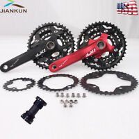 IXF MTB Bike Crankset BCD 104/64mm 24/32/42T Sprocket 3x10S Triple Speed with BB