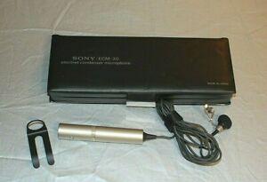 Sony ECM-30 Lavalier Microphone Omnidirectional Electret Condenser Classic