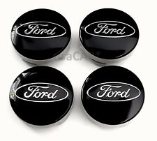 4x Black WHEEL HUB CENTER CAPS FORD CP9C-1A096-AA Focus Fiesta Fusion C-Max Edge