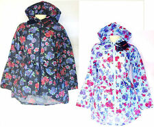 Polyester Raincoat Outdoor Floral Coats & Jackets for Women