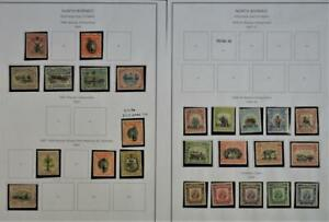 NORTH BORNEO STAMPS ON 2 PAGES H/M  (R17)