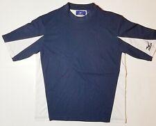 Mizuno Short Sleeve  Shirt Blue White Casual Athletic Activewear Top Crew Medium