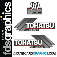 Tohatsu 90hp automixing outboard engine decals/sticker kit