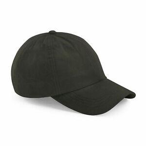 Beechfield Olive Green Outdoor Waxed Low Profile Cap