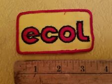 """Vintage new old stock ECOL Patch 3.5"""" sew on NOS ironic What does it mean?"""