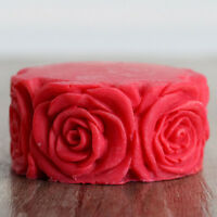 3D Cylinder Rose Candle Mold Soap Molds Silicone Mould Handmade Soap Craft DIY