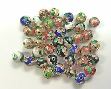 Sale! 100  10mm  Handmade Mix Cloisonne Beads