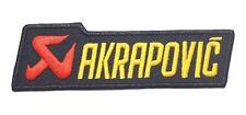 NEW AKRAPOVIC SPORT RACING LOGO SYMBOL EMBROIDERED IRON ON PATCH SHIRT PO455